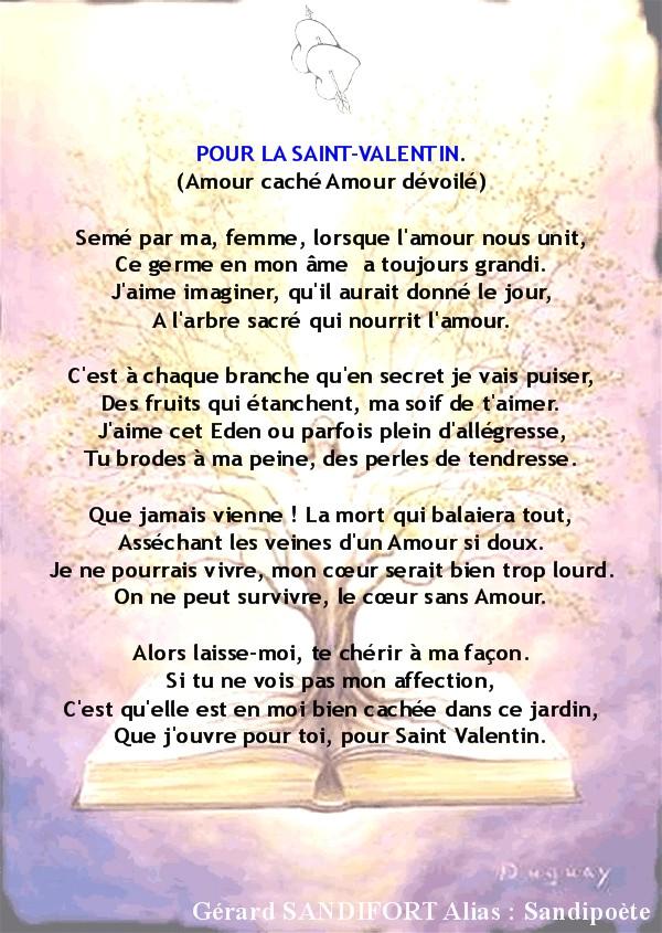 Pour la saint valentin po mes des po tes po me - Poeme d amour pour la saint valentin ...