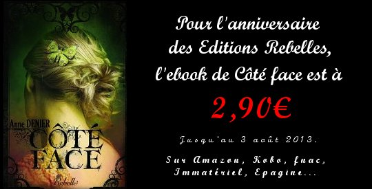 promotion du ebook de Côté face