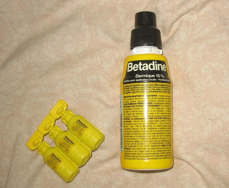 la bétadine, désinfectant