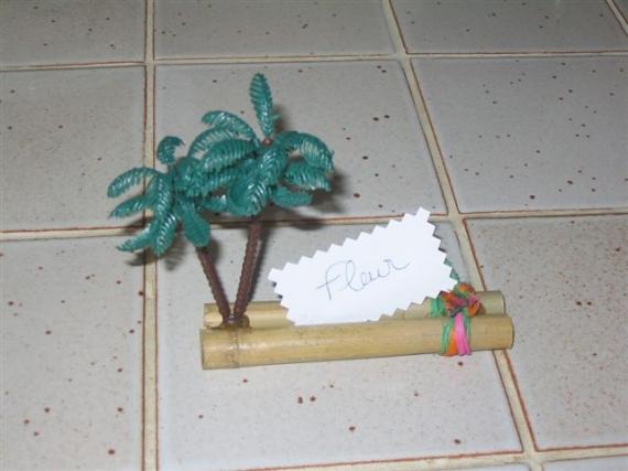 Comment faire un palmier en porte nom mariage - Fabriquer des portes noms ...