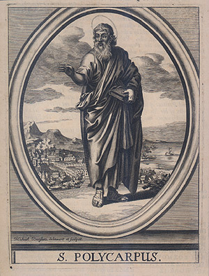 saint Polycarpe de Smyrne, gravure du 17e siecle