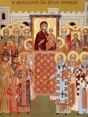 icone du Dimanche du Triomphe de l'Orthodoxie