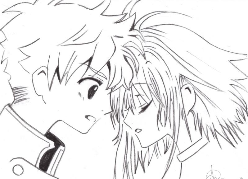 Dibujo de amor anime para colorear - Imagui