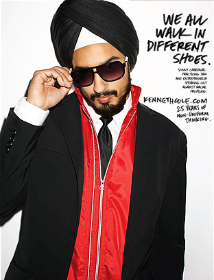 The campaign features Sandeep (aka: Sonny) Caberwal as a Sikh and in the