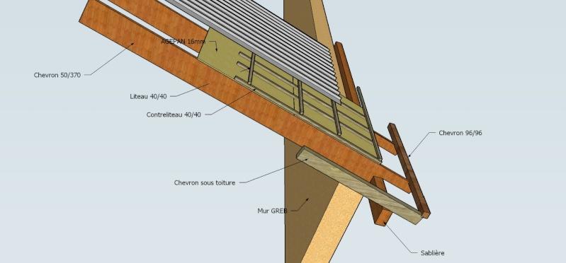 D bords de toit - Espacement chevron bac acier ...