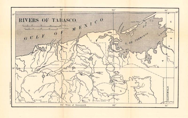 Mapas de Mxico ao de 1919 Ros de Tabasco