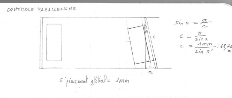 r glage parall lisme confirmation de calcul. Black Bedroom Furniture Sets. Home Design Ideas