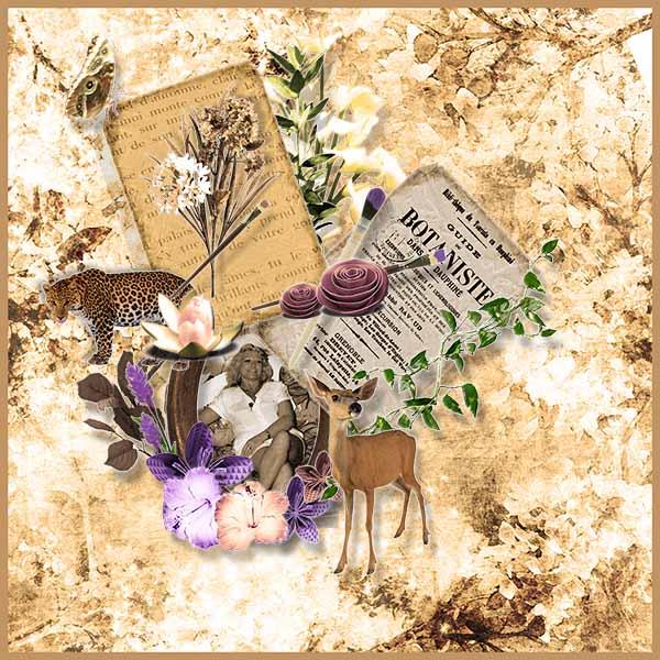 fleurs du mal kit simplette page chantal