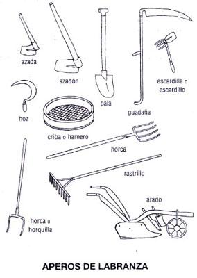 Pmar 2015 16 isabel mart nez la agricultura for Utensilios de cocina antiguos con nombres