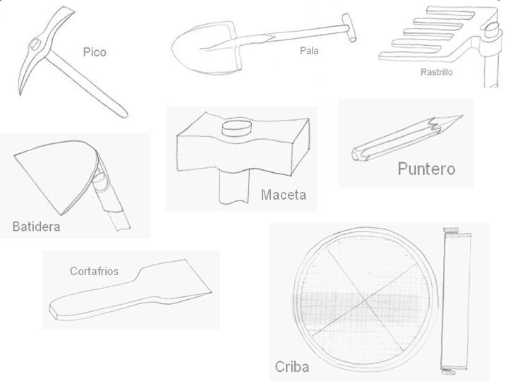 L minas dibujos herramientas alba il - Herramientas de albanil ...