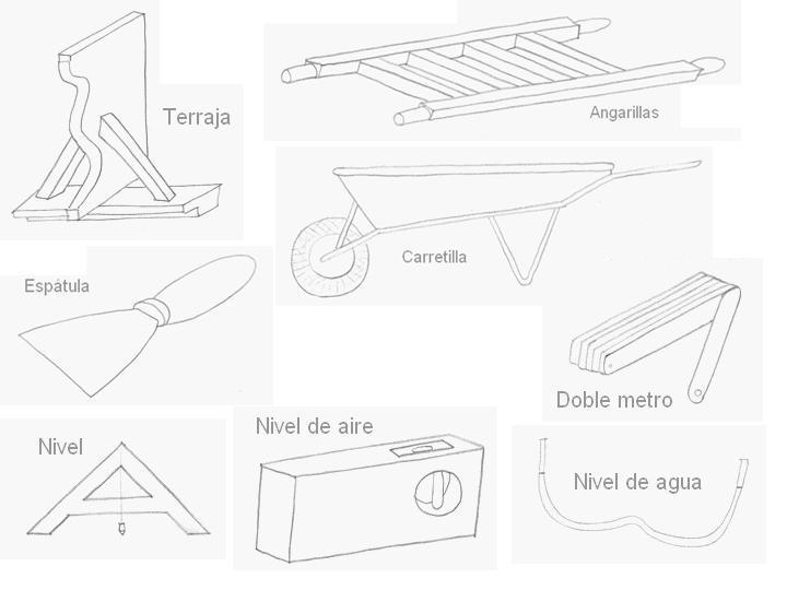 L minas dibujos herramientas alba il - Trabajo albanil madrid ...