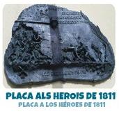 PLACA ALS HEROIS DE 1811