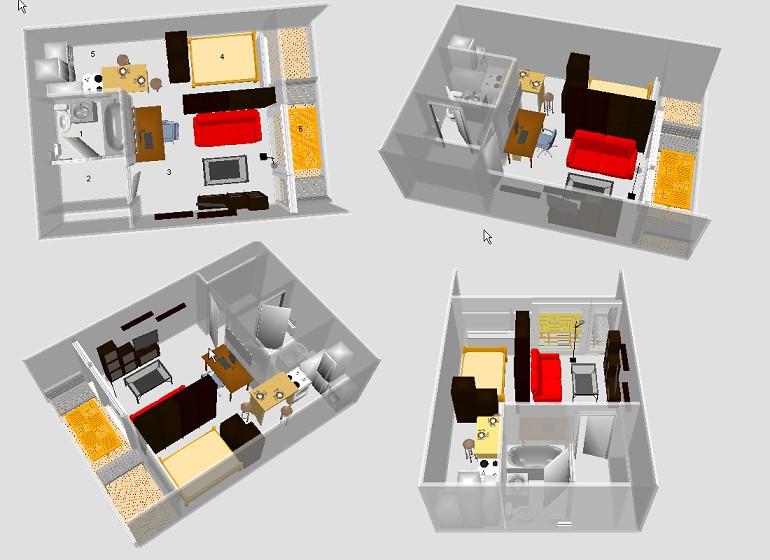 Conseil d co id e pour studio images 3d for Appart maison alfort