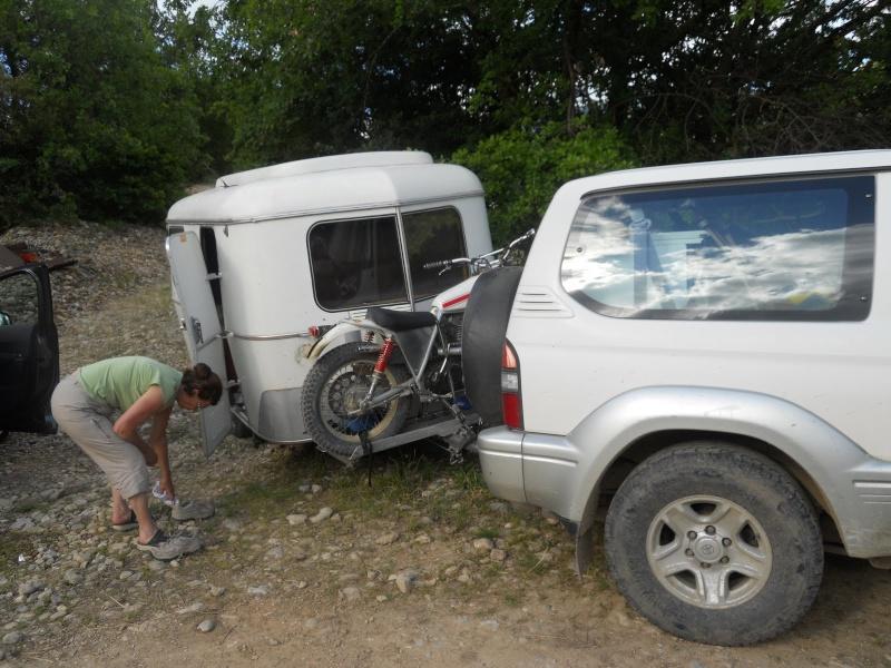 Porte moto caravane courroie de transport - Porte scooter pour fourgon ...