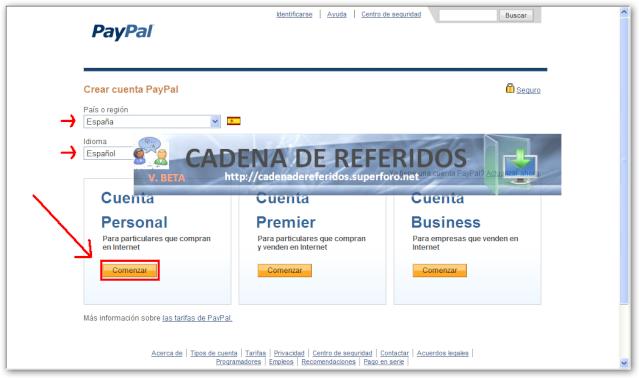 paypal en español registrarse
