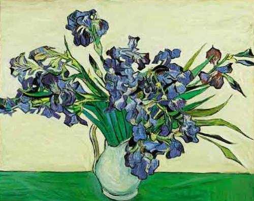 ( 1853 1890 ) Iris bleus  peinture à lhuile sur toile