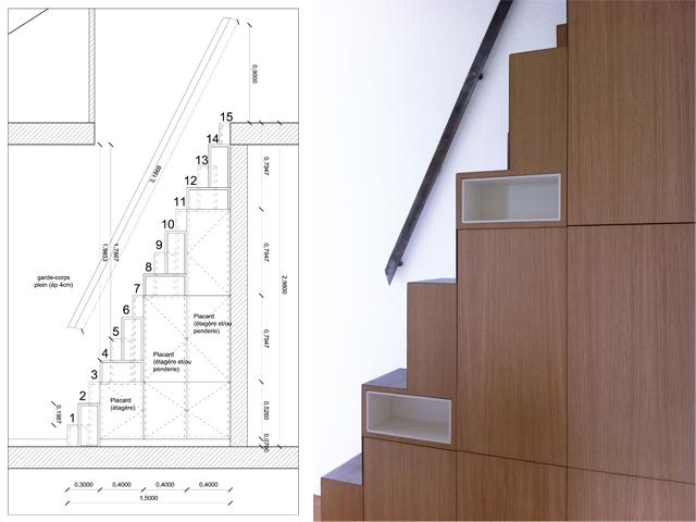 escalier japonais pas d cal s. Black Bedroom Furniture Sets. Home Design Ideas