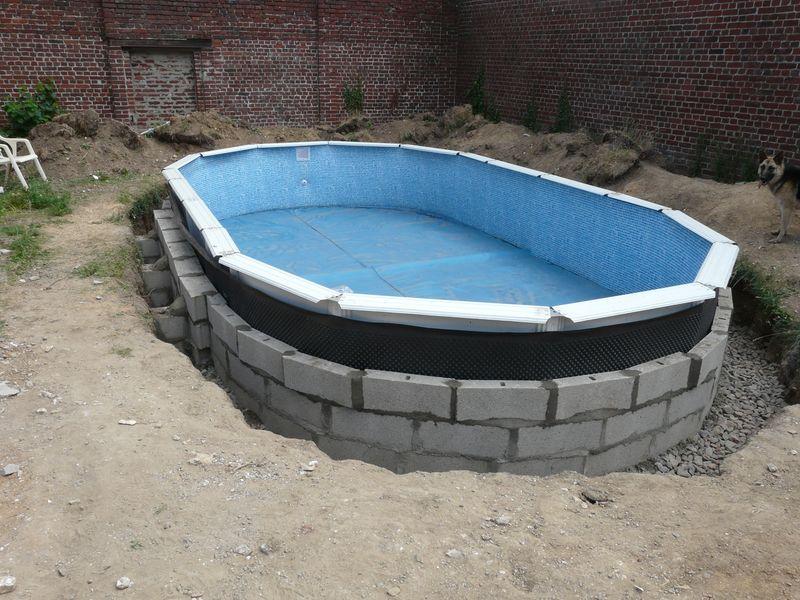 J 39 enterre ma piscine hors sol piscines r alisations photos explica - Comment installer une piscine hors sol ...