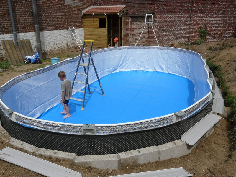 Piscine hors sol tole for Piscine enterrable