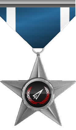 This medal is awarded to a member who helped in a cause without self interest and just for helping a person in need.