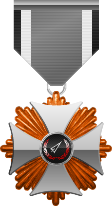 Bronze level of Silver Cross of the Silver Arrows - This award is given to a member who distinguished in a number of Community Events. Bronze level is the first of six.