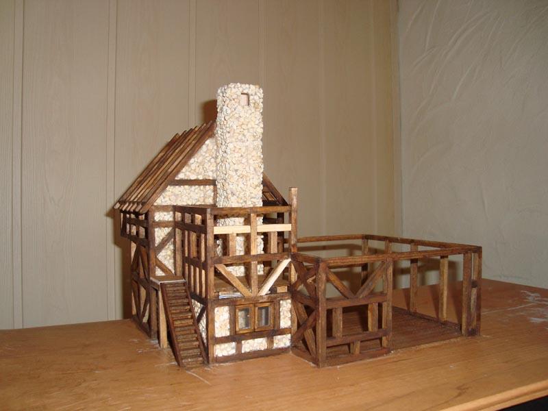 Fachwerkhaus mit wasserrad for Fachwerkhaus konstruktion