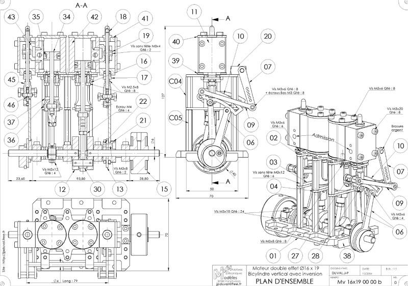 Fabrication d 39 un moteur vapeur bicylindres 15 cm3 for Ma centrale vapeur ne fait plus de vapeur