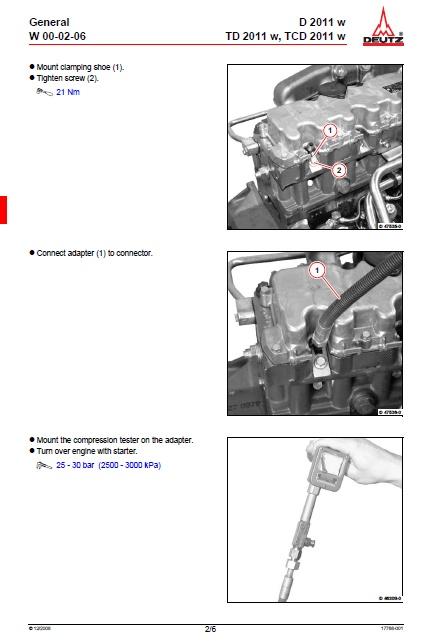 Deutz engine Service manual f3l1011