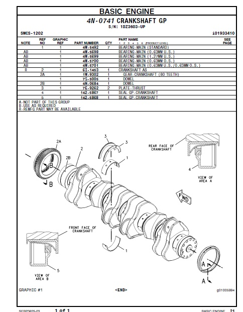 cat 3406c generator set parts manual