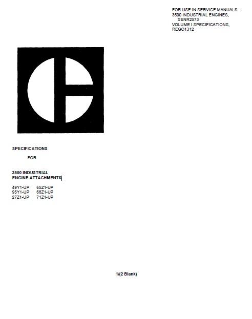 cat 3508 industrial engines service manuals