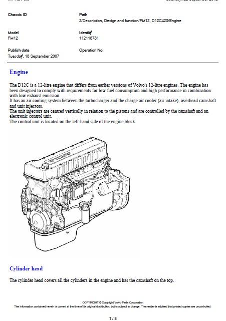 Volvo Fm12  D12c 420 Engine