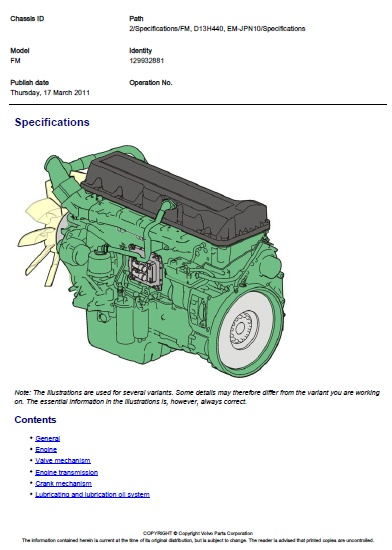 Volvo FM D13H 440 Specifications | Auto Repair Manual Forum - Heavy Equipment Forums - Download ...