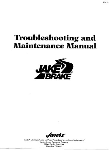 Cummins Cat Frenos Jacobs Auto Repair Manual Forum
