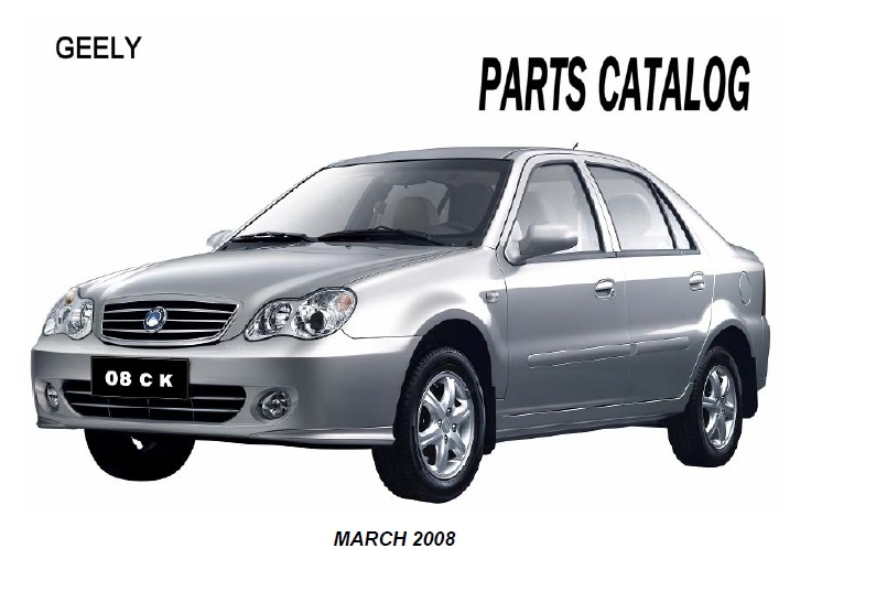 Geely Ck 2008 Catalogue Parts