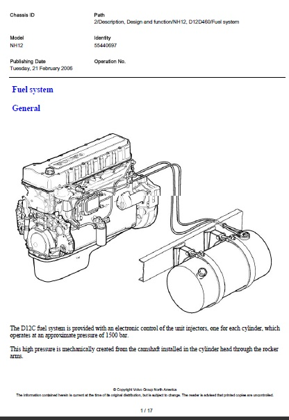 Volvo D12 Engine Diagram