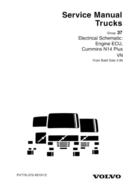 volvo vn ecu cummins n14 plus electric schematic auto repair manual forum heavy equipment
