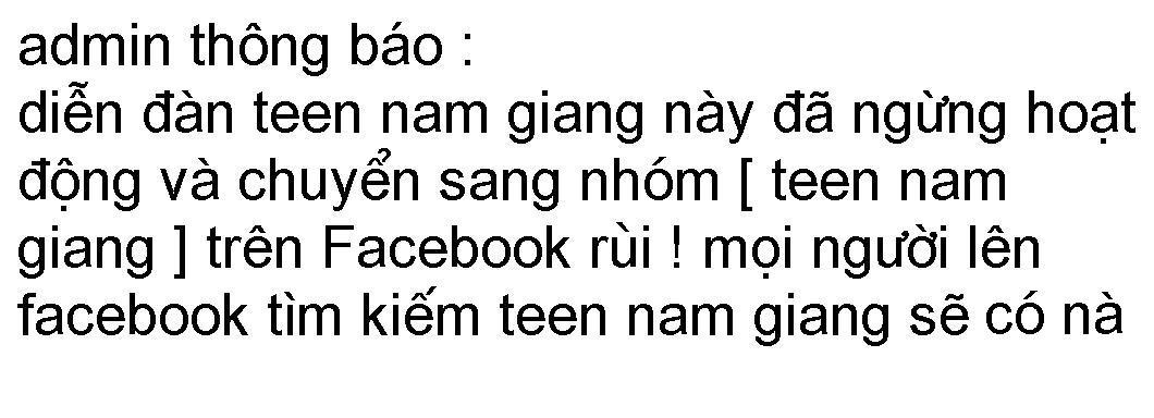 ..:: TEEN NAM GIANG - NAM ĐÀN - NGHỆ AN ::..