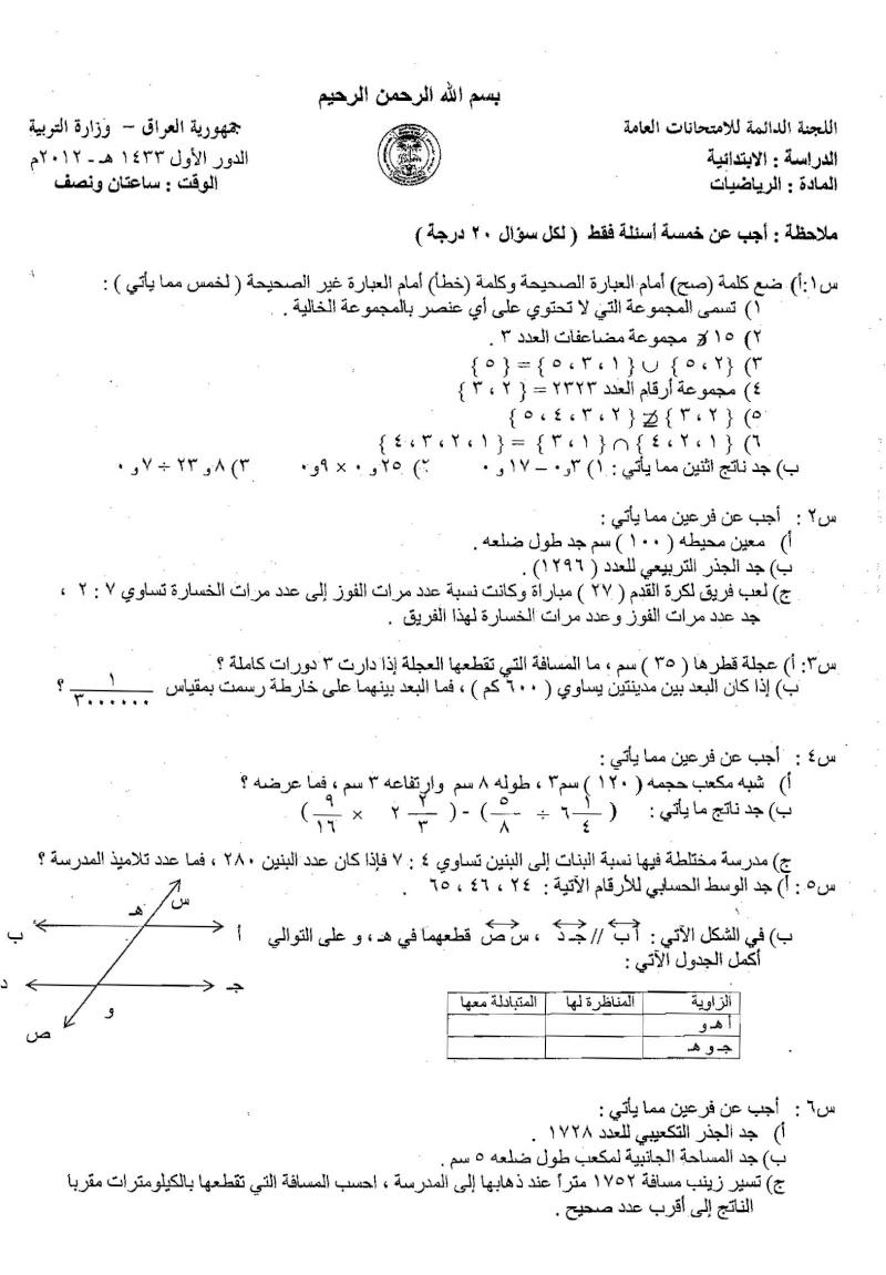 اسئلة وزارية للصف السادس الابتدائي 2012 و 2011 منهاج العراق oooo_o12.jpg