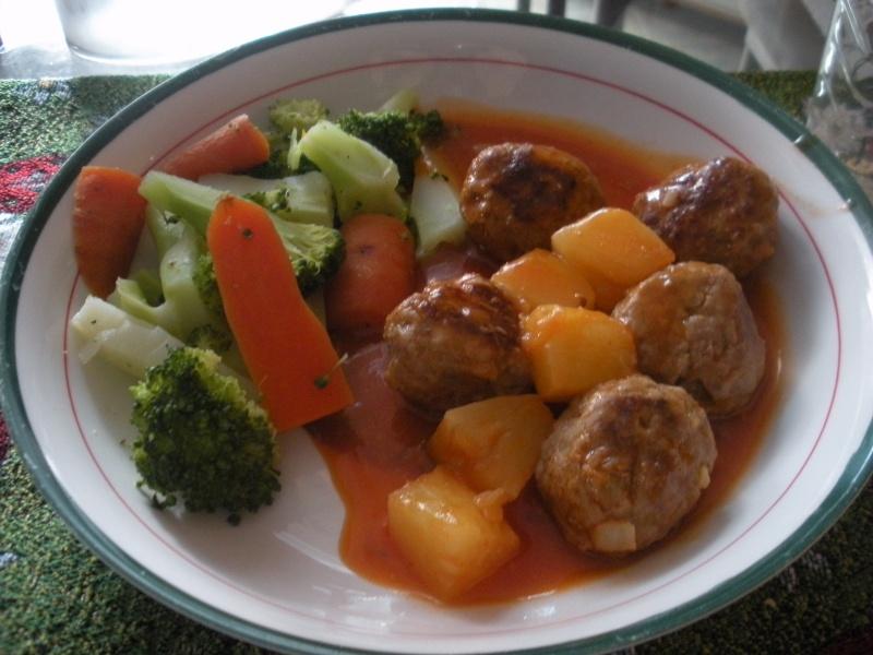 070 boulettes de viande en sauce polyn sienne - Boulette de viande en sauce ...