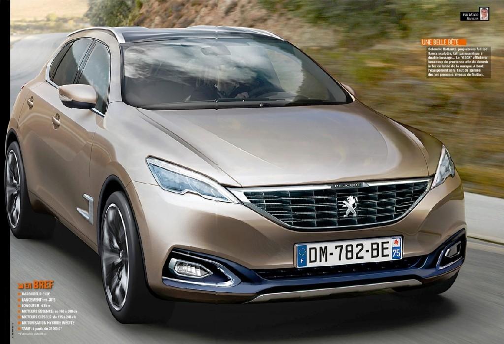 wizualizacja Peugeota 6008 - przód